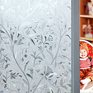 Χαμηλού Κόστους Εξοπλισμός Παραθύρων-Φλοράλ Λουλουδάτο Ματ, PVC/Vinyl Υλικό παράθυρο Διακόσμηση Σαλόνι Bath Room Shop / Cafe