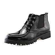 お買い得  メンズブーツ-男性用 靴 PUレザー 春 / 秋 コンフォートシューズ / ファッションブーツ ブーツ ブラック / 結婚式