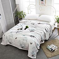 billige Quilt-tæpper og sengetæpper-Komfortabel - 1stk Sengetæppe / 1stk dyne Sommer Polyester Blomstret