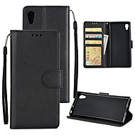 billiga Mobil cases & Skärmskydd-fodral Till Sony Xperia XA1 Plus Xperia XA1 Korthållare Plånbok Stötsäker Lucka Fodral Enfärgad Hårt PU läder för Sony Xperia XZ Sony