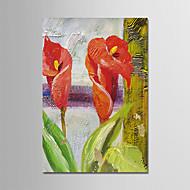 billiga Stilleben-Hang målad oljemålning HANDMÅLAD - Abstrakt Stilleben Moderna Duk