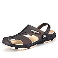 tanie Obuwie męskie-Męskie Buty Syntetyczny Lato Comfort Sandały na Casual Black Dark Blue Gray