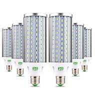 billige Kornpærer med LED-ywxlight® 6pcs e27 60w 5850-5950lm høypærerlampe 160 leddperler 5730smd aluminium varm hvit kald hvit hvit hvit led lampe kornlys AC 85-265v