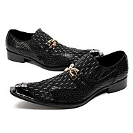 baratos Sapatos Masculinos-Homens Sapatos formais Pele Napa Primavera / Outono Inovador / Sapatos formais Oxfords Caminhada Preto / Sapatas de novidade