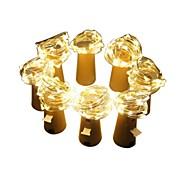 billiga Belysning-2m stränglampor # ledar varmvita dekorativa 3v batterier drivna 8st