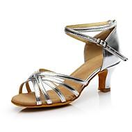 baratos Sapatilhas de Dança-Mulheres Sapatos de Dança Latina Sintético Salto Salto Personalizado Personalizável Sapatos de Dança Prata / Interior / Ensaio / Prática