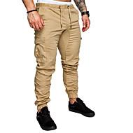 Homme Basique Grandes Tailles Coton Ample Joggings / Pantalon cargo Pantalon - Couleur Pleine Marine / Printemps / Eté