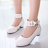 cheap Kids' Shoes-Girls' Shoes PU Spring / Fall Flower Girl Shoes / Tiny Heels for Teens Heels for White / Black / Pink