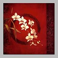 billiga Stilleben-Hang målad oljemålning HANDMÅLAD - Stilleben / Blommig / Botanisk Traditionell Duk