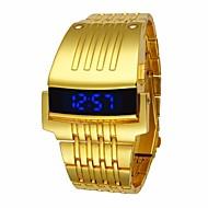 Herre Sportsklokke Digital Watch Quartz Svart / Sølv / Gylden Vannavvisende Digital Luksus Mote - Gull Svart Sølv