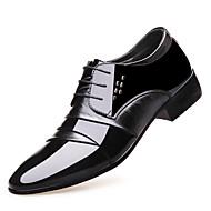 baratos Sapatos Masculinos-Homens Sapatos formais Couro Envernizado Verão Conforto Oxfords Preto