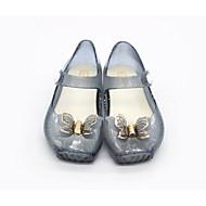 baratos Sapatos de Menina-Para Meninas Sapatos PVC Primavera Plástico Sandálias Laço para Bébé Preto / Prateado / Rosa claro
