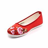 baratos Sapatos Femininos-Mulheres Sapatos Seda Primavera Alpargata Rasos Sem Salto Ponta Redonda Fúcsia / Vermelho / Rosa claro