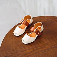 女の子 靴 PUレザー 夏 コンフォートシューズ フラット ウォーキング のために 子供 ベージュ / グリーン / ピンク / オープントゥ / ピープトウ