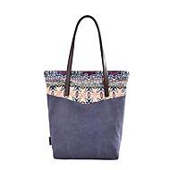 baratos Bolsas Tote-Mulheres Bolsas Tela de pintura Tote Estampa Azul / Bege