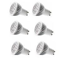 billige Spotlys med LED-6pcs 4W 350lm E14 GU10 GU5.3 E26 / E27 LED-spotpærer 4 LED perler Høyeffekts-LED Dekorativ Varm hvit Kjølig hvit 85-265V