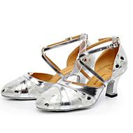 billige Moderne sko-Dame Moderne sko Lær Høye hæler Slim High Heel Dansesko Gull / Svart / Sølv / Ytelse / Trening