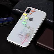 billiga Mobil cases & Skärmskydd-fodral Till Apple iPhone X / iPhone 8 Plätering / Mönster Skal Fjäril / Maskros Mjukt TPU för iPhone X / iPhone 8 Plus / iPhone 8