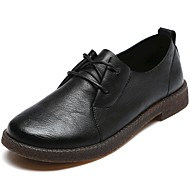 cheap Women's Oxfords-Women's Leather Spring & Summer Comfort Oxfords Low Heel Black / Brown