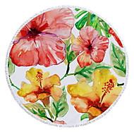 tanie Ręcznik plażowy-Najwyższa jakość Ręcznik plażowy, Kwiatowy / roślinny / Wzorzec Bawełniano-poliestrowy 1 pcs