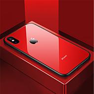billiga Mobil cases & Skärmskydd-fodral Till Apple iPhone X / iPhone 8 Stötsäker / Spegel Skal Enfärgad Hårt Härdat glas för iPhone X / iPhone 8 Plus / iPhone 8
