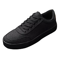 baratos Sapatos Masculinos-Homens Linho Primavera Conforto Tênis Branco / Preto / Vermelho