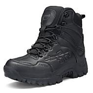 tanie Obuwie męskie-Męskie Komfortowe buty Nubuk / PU Jesień Buciki Spacery Zieleń wojskowa / Light Brown / Dark Brown