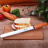billige Bakeredskap-Bakeware verktøy Rustfritt Stål / Tre Multifunksjonell / Kreativ Kjøkken Gadget Brød Kakekniv 1pc