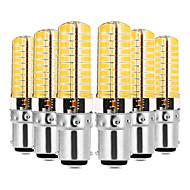 billige Bi-pin lamper med LED-YWXLIGHT® 6pcs 7W 600-700lm BA15d LED-lamper med G-sokkel T 80 LED perler SMD 5730 Mulighet for demping Varm hvit / Kjølig hvit 220-240V