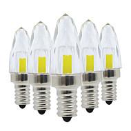 baratos Luzes LED de Dois Pinos-YWXLIGHT® 5pçs 3W 200-300lm E12 Luminárias de LED  Duplo-Pin 5 Contas LED COB Regulável Branco Quente / Branco Frio 220-240V / 110-130V