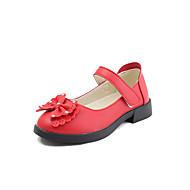tanie Obuwie dziewczęce-Dla dziewczynek Obuwie Derma Wiosna lato Comfort Buty płaskie Spacery na Dzieci / Brzdąc Black / Czerwony / Różowy