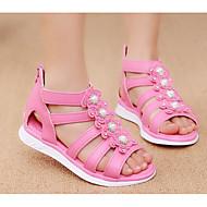 お買い得  フラワーガールシューズ-女の子 靴 レザーレット 夏 コンフォートシューズ / フラワーガールシューズ サンダル のために ホワイト / フクシャ / ピンク
