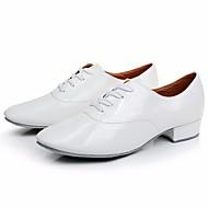 billige Kustomiserte dansesko-Gutt Moderne sko Lakklær Oxford Lav hæl Kan spesialtilpasses Dansesko Hvit / Svart / Ytelse