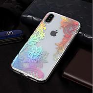 billiga Mobil cases & Skärmskydd-fodral Till Apple iPhone X / iPhone 8 IMD / Mönster Skal spetsar Utskrift Mjukt TPU för iPhone XS / iPhone XR / iPhone XS Max