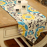 cheap Table Linens-Contemporary PVC(PolyVinyl Chloride) Square Table Runner Floral Table Decorations 1 pcs