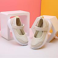 baratos Sapatos de Menina-Para Meninas Sapatos Couro Ecológico Primavera Conforto Sapatos de Barco Velcro para Bege / Cinzento / Rosa claro