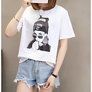 女性のTシャツ - ポートレートラウンドネック