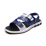 baratos Sapatos Masculinos-Homens Couro Ecológico Verão Conforto Sandálias Preto / Marron / Azul