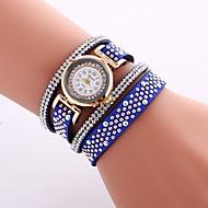 billige Quartz-Dame Armbåndsur Kinesisk Imiteret Diamant / Afslappet Ur PU Bånd Afslappet / Mode Sort / Hvid / Blåt