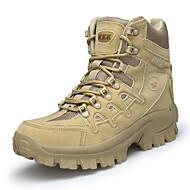 baratos Sapatos Masculinos-Homens Fashion Boots Pele Nobuck / Couro Ecológico Outono Conforto / Botas da Moda Botas Aventura / Caminhada Botas Curtas / Ankle Preto / Castanho Claro