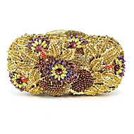 baratos Clutches & Bolsas de Noite-Mulheres Bolsas PU Bolsa de Festa Detalhes em Cristal Azul / Dourado / Bege