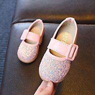 baratos Sapatos de Menina-Para Meninas Sapatos Couro Ecológico Verão Conforto / Sapatos para Daminhas de Honra Rasos Caminhada Lantejoulas / Presilha para Infantil