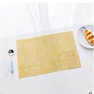 Χαμηλού Κόστους Σουπλά-Σύγχρονο PVC Τετράγωνο Σουπλά Μονόχρωμο Επιτραπέζια διακοσμητικά 1 pcs