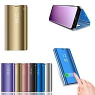 billiga Mobil cases & Skärmskydd-fodral Till Huawei P20 / P20 lite med stativ / Plätering / Spegel Fodral Enfärgad Hårt PU läder för Huawei P20 / Huawei P20 Pro / Huawei P20 lite / P10 Plus / P10 Lite / P10