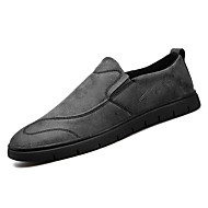 cheap Men's Slip-ons & Loafers-Men's Shoes Rubber Fall Comfort Loafers & Slip-Ons Black Gray Khaki