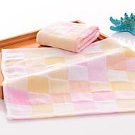billiga Handdukar och badrockar-Överlägsen kvalitet Handduk, Pläd / Rutig Polyester / Bomull Blandning 1 pcs