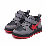 baratos Sapatos de Menino-Para Meninos Sapatos Courino Outono Conforto Tênis para Preto / Cinzento / Vermelho