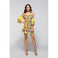Žene Boho Majica Haljina Cvjetni print / Geometrijski oblici Mini / Iznad koljena