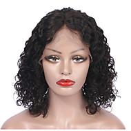 レミーヘア フロントレース かつら ブラジリアンヘア カール ショートボブ 130% 密度 女性用 ショート 人毛レースウィッグ