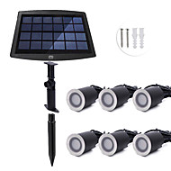 billiga Belysning-YWXLIGHT® 6pcs 0.2W Lawn Lights / Undervattensglödlampa Sol / Bimbar / Vattentät Varmvit / Naturlig vit 3.7V Trädgård / Gård / Simbassäng